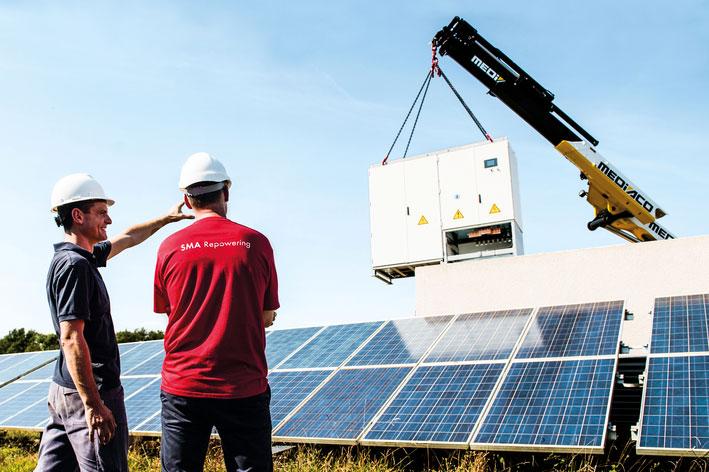 Repowering für Solarkraftwerke