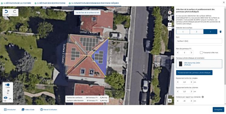 Fig. 3 : Capture d'écran de Sunny Design Web