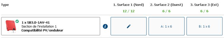 Fig. 4 : Capture d'écran de Sunny Design Web