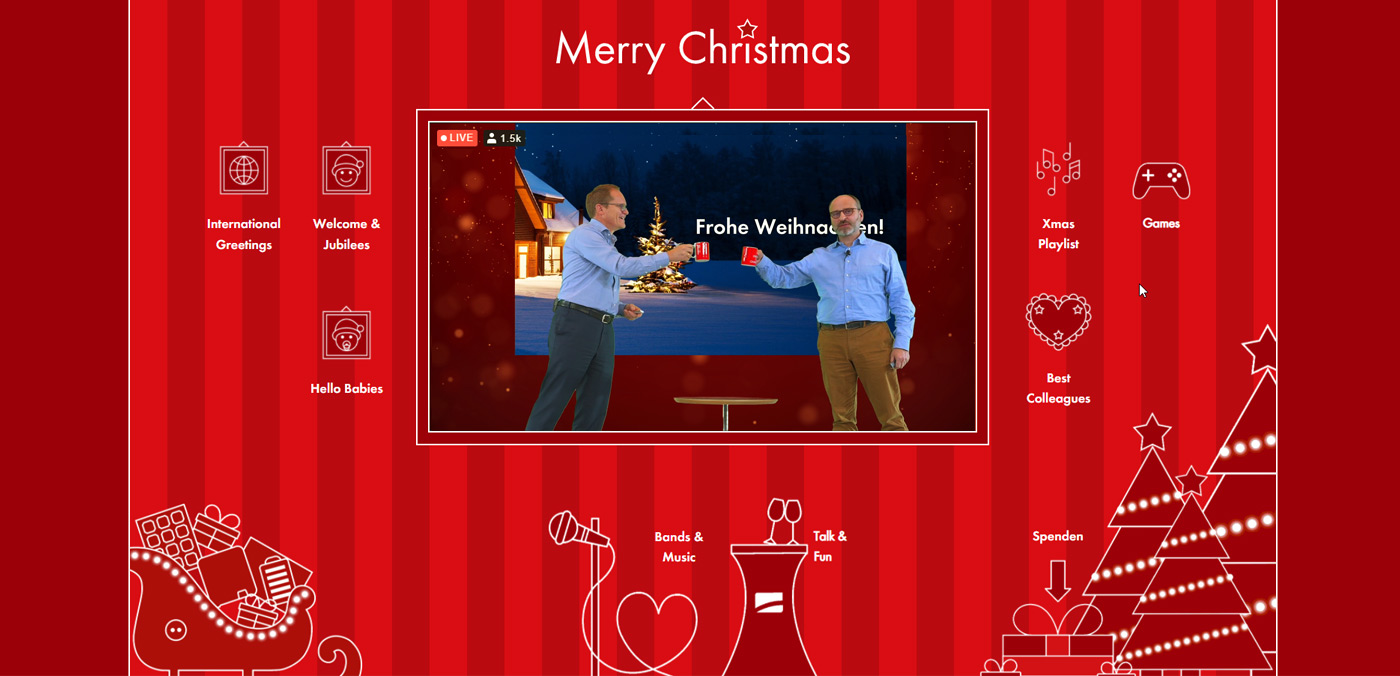Five ideas for a digital Christmas party