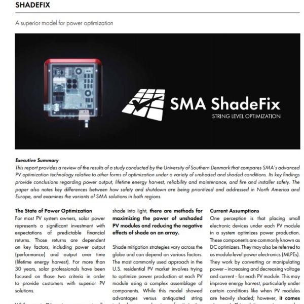 ShadeFix Optimization