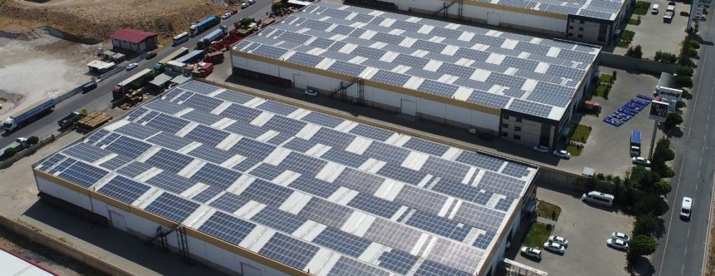 Kayseri Organize Sanayi Bölgesi'nde hayata geçirdiğimiz bir endüstriyel çatı GES projesi