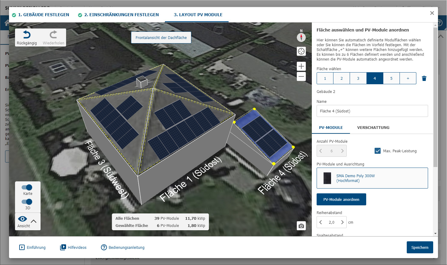 Screenshot Zeltdach mit Carport